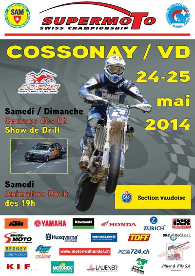 Plakat Supermoto Cossonay - 2014